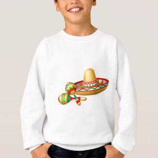 Mexican Sombrero Hat and Maracas Shakers Sweatshirt