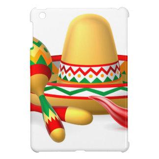 Mexican Sombrero Maracas and Chilli Pepper Cover For The iPad Mini