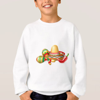 Mexican Sombrero Maracas and Chilli Pepper Sweatshirt