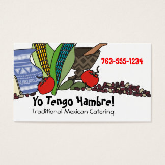 Mexican Southwestern foods chef catering biz cards