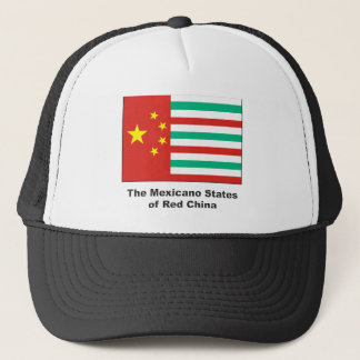 Mexican States of Red China Trucker Hat