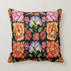 Mexican style flowers,edit background colour cushion