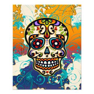 Mexican Sugar Skull, Day of the Dead 11.5 Cm X 14 Cm Flyer