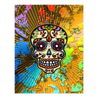 Mexican Sugar Skull, Day of the Dead 21.5 Cm X 28 Cm Flyer
