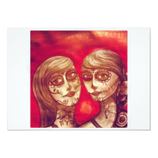mexican sugar skull day of the dead fiestas party 13 cm x 18 cm invitation card