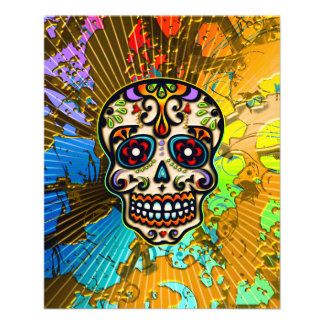 Mexican Sugar Skull, Day of the Dead Personalized Flyer