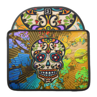 Mexican Sugar Skull, Day of the Dead Sleeve For MacBooks