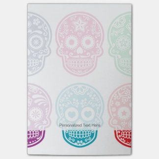 Mexican Sugar Skull, Dia De Los Muertos Colorful Post-it Notes