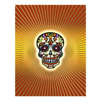 Mexican Sugar Skull, Dias de los muertos 21.5 Cm X 28 Cm Flyer