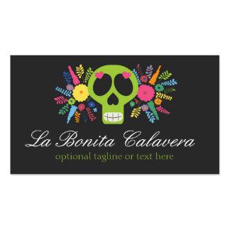 Mexican Sugar Skull & Floral - La Bonita Calavera Pack Of Standard Business Cards