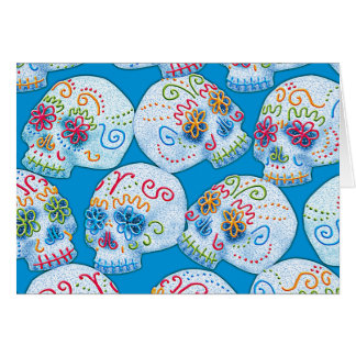 Mexican Sugar Skulls Card