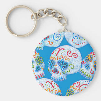 Mexican Sugar Skulls Key Ring