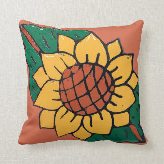 Mexican Sunflower Tile Cushion