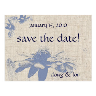 Mexican Sunflowers Save the Date! Postcard