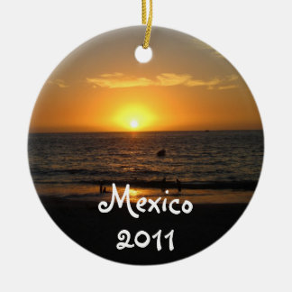 Mexican Sunset; Mexico Souvenir Christmas Ornament