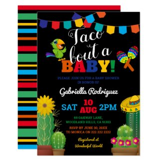 Mexican Taco Bout a Baby | Fiesta Baby Shower Invitation