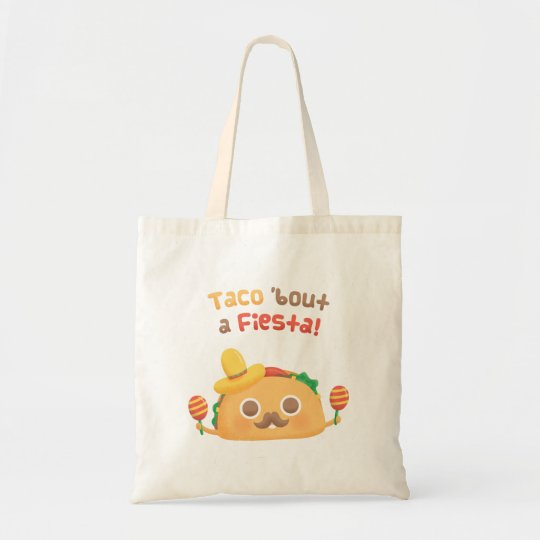 Mexican Taco Bout A Fiesta Pun Humour Tote