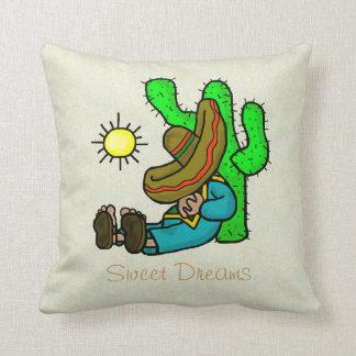 Mexican Taking A Siesta Pillow