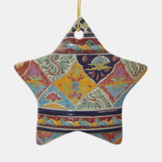 Mexican Talavera style pottery Christmas Ornament