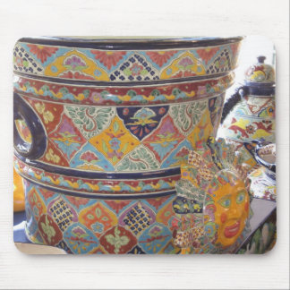 Mexican Talavera style pottery Mousepads