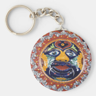 Mexican Talavera style sun Key Ring