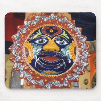 Mexican Talavera style sun Mouse Pad