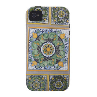 Mexican Talavera style tiles Case For The iPhone 4