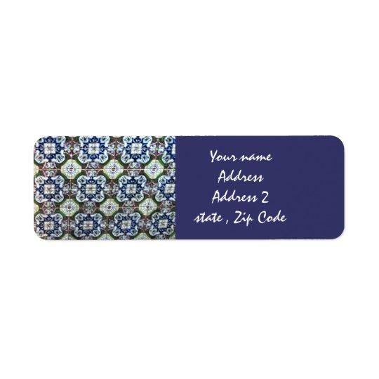 Mexican Talavera tile design address labels