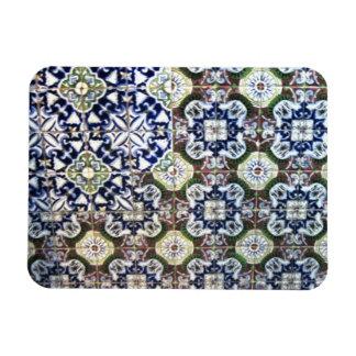 Mexican Talavera tile design Rectangular Magnet