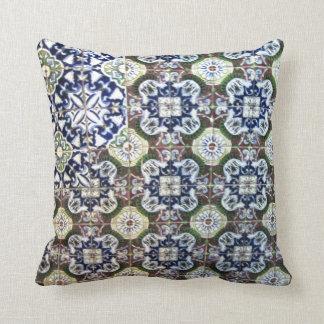 Mexican Talavera tile design Throw Pillow