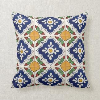 Mexican Talavera Tile double-sided throw pillows