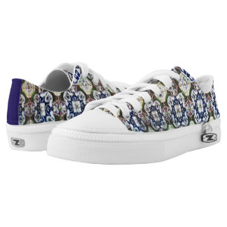 Mexican Talavera tile pattern tennis shoes Printed Shoes