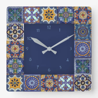 Mexican Talavera Tiles Clock