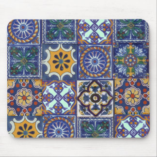 Mexican Talavera Tiles Mouse Pad