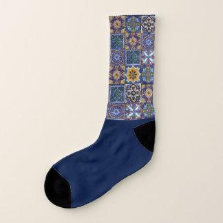 Mexican Talavera Tiles Socks