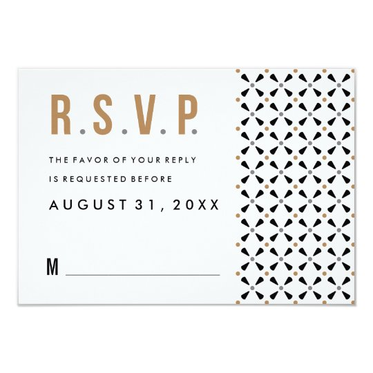 Mexican Tile Neutral Modern Wedding Rsvp Cards