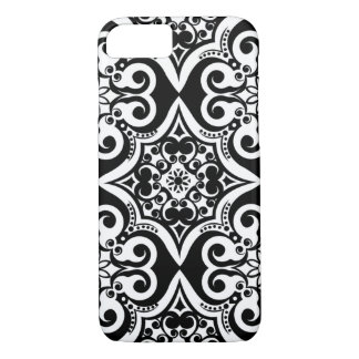 Mexican Tile Pattern | Black & White iPhone 7 Case