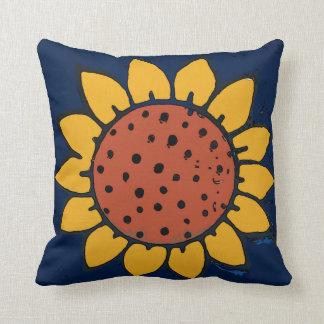 Mexican Tile Sunflower Blue Cushion