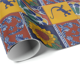 mexican tile wrapping paper