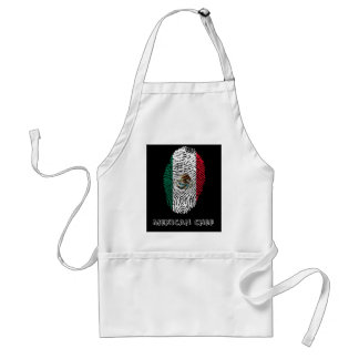 mexican touch fingerprint flag standard apron