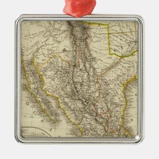 Mexican United States, Central America Silver-Colored Square Decoration