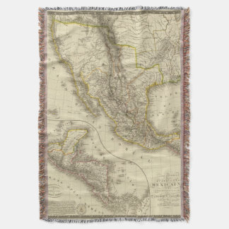 Mexican United States, Central America Throw Blanket