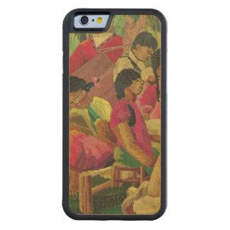 Mexican village scene maple iPhone 6 bumper case