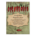 Mexican Vintage  Rustic Peppers Wedding Invitation 13 Cm X 18 Cm Invitation Card