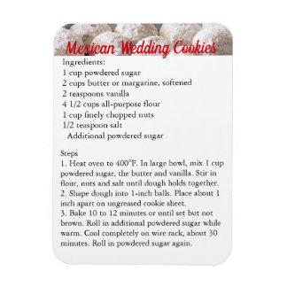 """Mexican Wedding Cookies"" Recipe Magnet Fridge"
