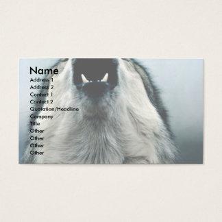 Mexican wolf, endangered species, Sonoran Desert, Business Card