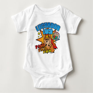 Mexican Wrestling Squirrel Paco Baby Bodysuit