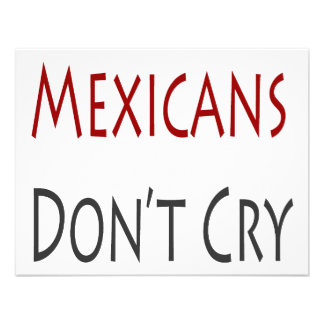 Mexicans Don't Cry Personalized Invites