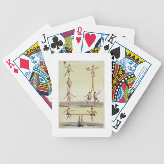 Mexicans Performing Gymnastics (colour litho) Bicycle Playing Cards