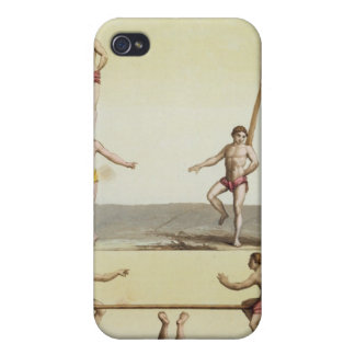 Mexicans Performing Gymnastics (colour litho) iPhone 4 Case
